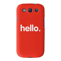Hello Full Wrap High Quality 3D Printed Case for Samsung Galaxy S3 by textGuy