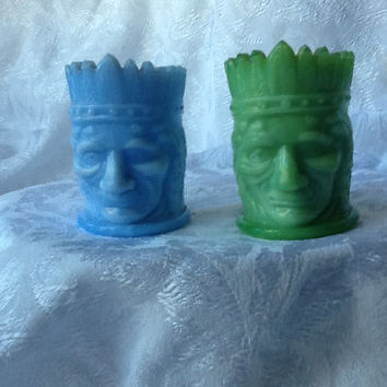Carnival Glass ,Toothpick Holders,Vintage Glass