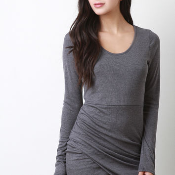 Side Gathered Runched Dress