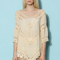 Mix and Match Open-Knit Top Multi S/M