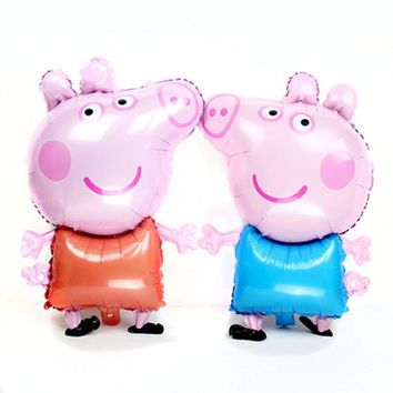 Mini Newly Cute Pig Toy Children's Air Foil Balloons Cartoon Pink Pig for Children Funny Party & Birthday Decoration