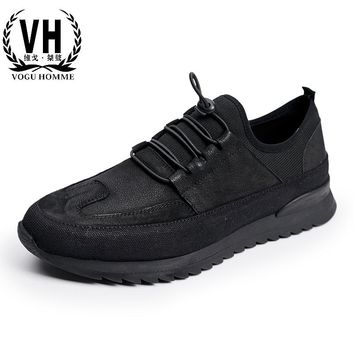 The new trend of Korean fashion leathe shoes leisure shoes men breathable Leather Vintage men Casual shoes for young men