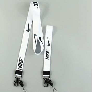 Supreme & NIKE 2018 Men's and Women's Tide brand fashion mobile phone lanyard ornaments F0770-1 white nike