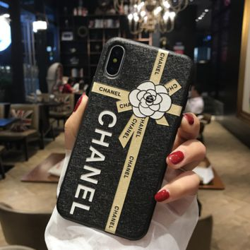 The New Chanel Flower Print Iphone 8 8 Plus/7 7 Plus/ 6 6s Plus Cover Case