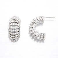 Silver Half Circle Earrings