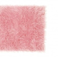 Wake Up Frankie - Faux the Love of Fur Rug - Soft Pink