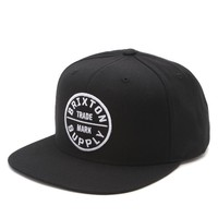 Brixton Oath III Snapback Hat - Mens Backpack - Black - One