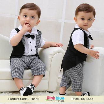 Shop Wedding Tuxedo Formal Suit for Little Boy | One Piece Romper Outfit