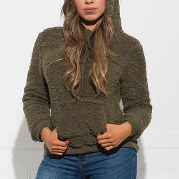 Hensley Hooded Sweater - Olive