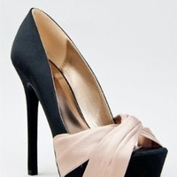 Amazon.com: Qupid MIRIAM-70 Satin Knotted Platform High Heel Party Pump: Shoes