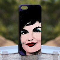 Jackie O, Print on Hard Cover iPhone 5 Black Case