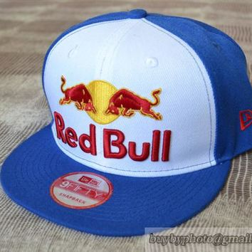 Red Bull Snapback Caps Hats Blue White - wholesalesnapbackcaps.com