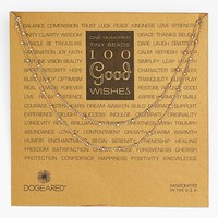 Women's Dogeared '100 Good Wishes' Long Station Necklace - Gold