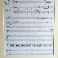 One Last Time Charity - Hamilton Lin-Manuel Digitally Signed Lyric Sheet