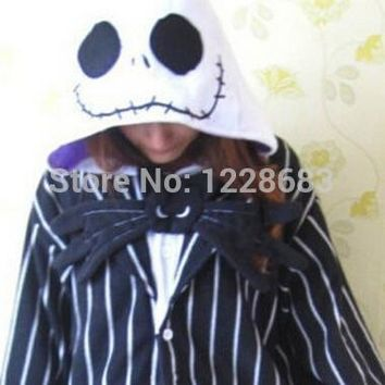 New Nightmare Before Christmas Jack Skellington Skeleton Anime Pajamas Pyjama Cosplay Costumes Adult Onesuits Halloween Costume