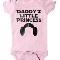Star Wars Baby Daddys Little Princess, Princess Leia, Baby Clothing, Baby Clothes, Newborn gift,