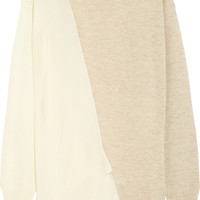 Stella McCartney - Asymmetric two-tone wool sweater