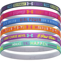 Under Armour Graphic Elastic Mini Headband - 6-Pack - Girls'