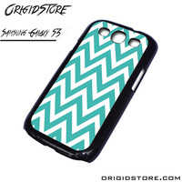 Chevron Blue Wave Case For Samsung Galaxy S3 Case