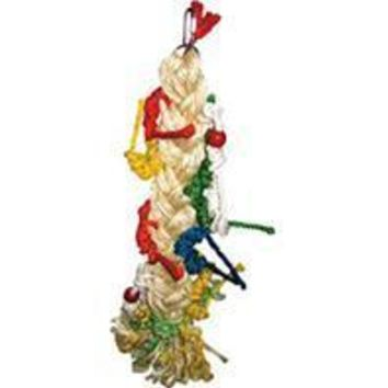 A&e Cage Company - Happy Beaks Braided Rope Pony Tail Bird Toy