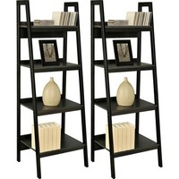 Altra Metal Ladder Bookcase, Set of 2, Black - Walmart.com