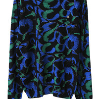 Peacock Feather Print Sweater