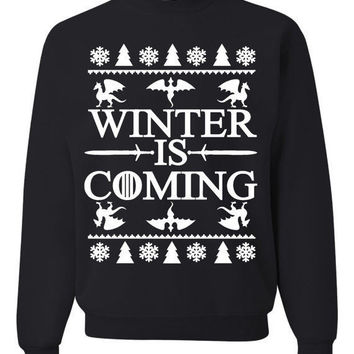 Winter Is Coming Ugly Christmas Sweater Unisex Sweatshirts