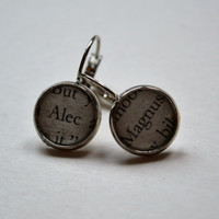 Alec and Magnus The Mortal Instruments City of Bones Earrings