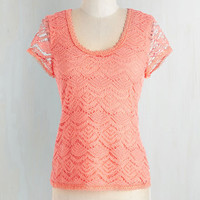 Mid-length Short Sleeves Can-do Chic Top by ModCloth