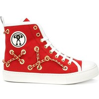 Moschino Chain Embellished Hi-top Sneakers - Atelier Ny - Farfetch.com