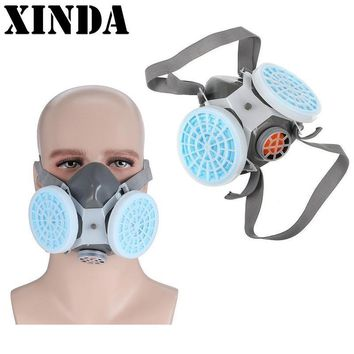 First Aid Kits Anti Dust Respirator Mask Filter Polishing Industrial Paint Spraying Decorate Protective mask Workplace Safety