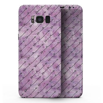 Purple Tribal Arrow Pattern - Samsung Galaxy S8 Full-Body Skin Kit
