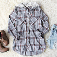 Snow Mound Plaid Top