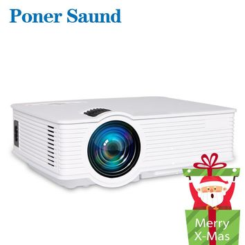 Poner Saund LED GP9 Mini Projector Wired Sync Display Home Theater Android Support Full HD LED projector Beamer Video Proyector