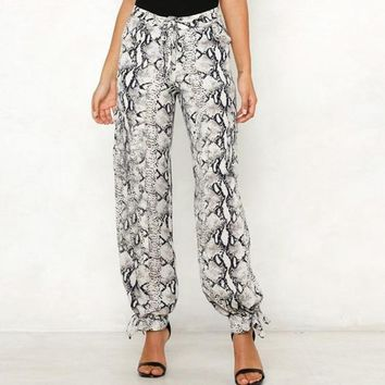Snakeskin Drip Trousers