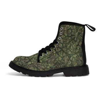 Men's Martin Boots Earth Scale Print shoes footwear