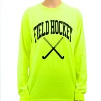 Long Sleeve Neon Field Hockey T-shirt (Color/Size=Neon Orange, Small)