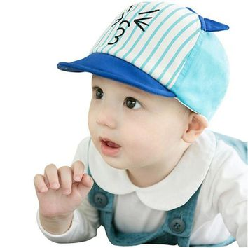 LMF78W 2017 Fashion Toddler Kids Infant Sun Cotton Blend Cap Summer Cute Baby Girls Boys Sun Lovely Beach Hat
