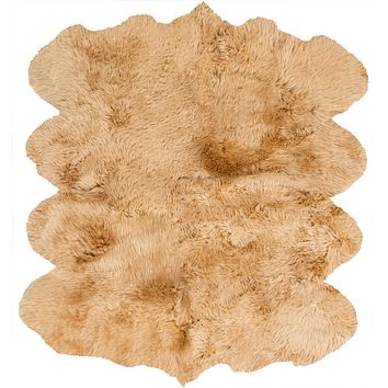 Surya Sheepskin Hides and Leather Yellow SHS-9601 Area Rug
