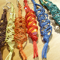 Choose your Color thick hemp macrame lighter leash by HempHugs