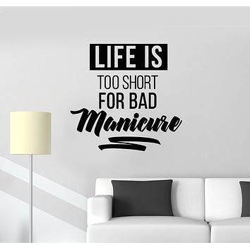 Vinyl Wall Decal Nail Salon Quote Manicure Hands Nails Art Stickers Mural (g392)