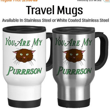 You Are My Purrrson 002, Valentine's Day, I Love You, Valentine Gift, Together Forever, Be Mine, Anniversary, Coffee Mug, Travel Mug