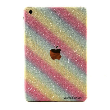IPAD MINI GLITTER DECAL RAINBOW