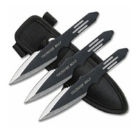 3 Piece Thunderbolt Throwing Knife Set by Perfect Point