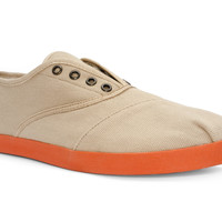 Yayas Cacao - Beige Canvas Lace-less Slip-On Shoes