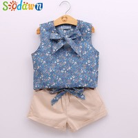Sodawn Baby Girl Clothes Fashion Cartoon Girls Summer Set Clothes Baby Suits Kids T Shirt +Pants Children Clothing Set