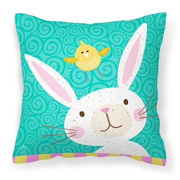 Happy Easter Rabbit Fabric Decorative Pillow VHA3032PW1414