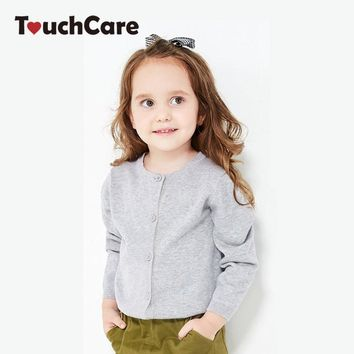 Girl Sweaters Kid Outerwear Cardigan Casual Solid Boy Clothes Knit Children's Sweater Fashion