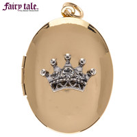 Gold Oval Locket with Crown | Hobby Lobby | 1400712