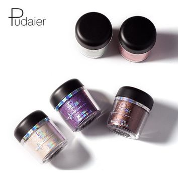Pudaier Make Up Metallic Glitter Eye Shadow Pigments Single Color Shimmer Brand Eyeshadow Powder Waterproof Cosmetics